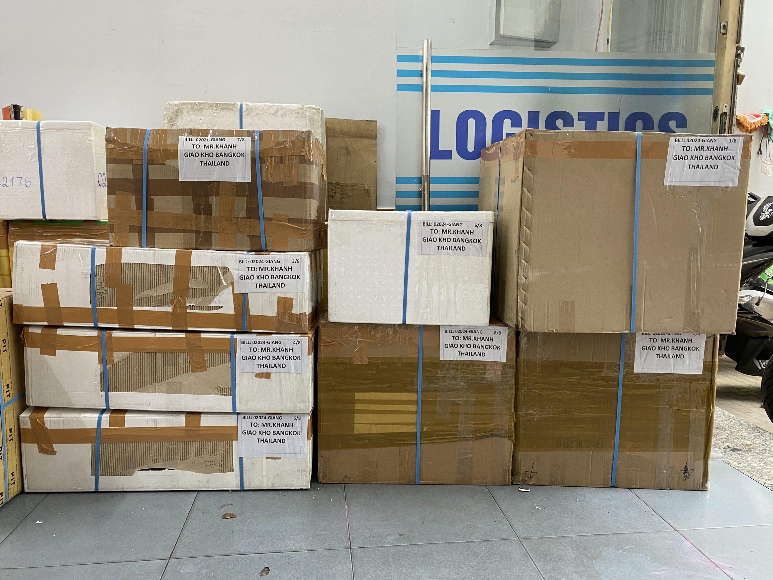 Các loại mặt hàng được gửi bằng tàu đi Úc